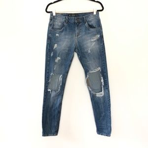 Zara Trafaluc Denim Distressed Skinny Jeans